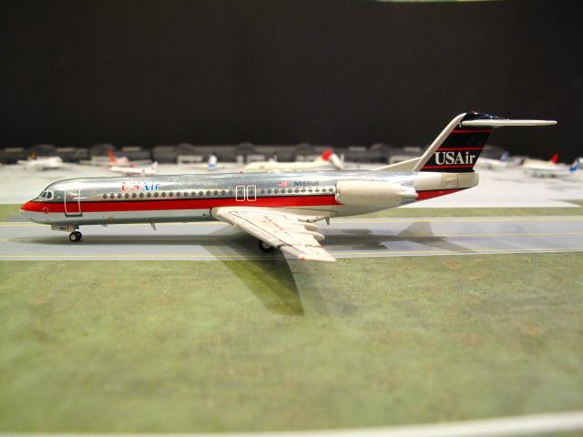 GEMINI JETS  1:200 US AIRWAYS FOKKER 100 N866US
