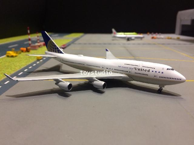 HERPA WINGS 1:500 United 747-400 Farewell flight N118UA HW531306