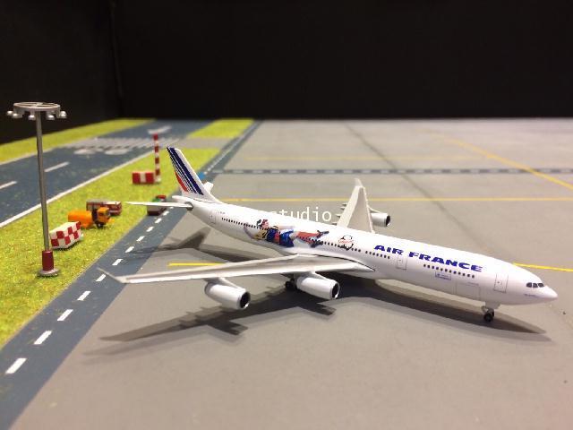 HERPA WINGS 1:500 Air France A340-300 France 1998 Brazil/Columbia F-GLZK HW531412