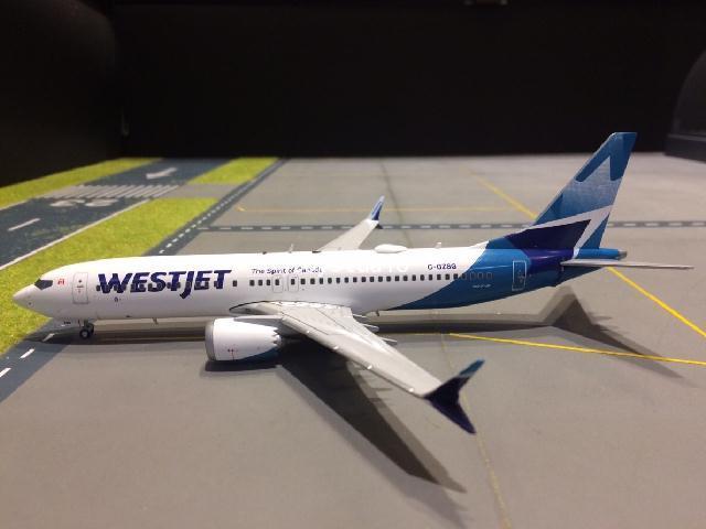 GEMINI JETS 1:200 Westjet 737 MAX-8 C-GZSG nc G2783 2