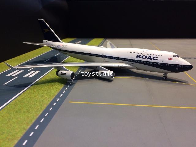 INFLIGHT 1:200 BOAC 747-400 G-BYGC 100 Ann BA100