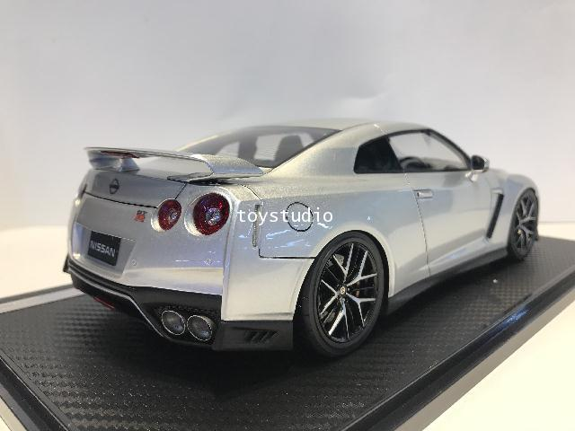 Ignition Model 1:18 Nissan GT-R35 Premium Edition Ultimate Metal Sil IG1910 2