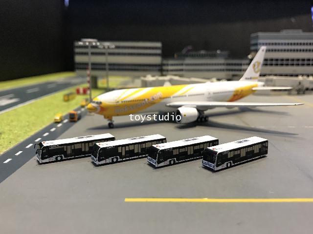 FantasyWings 1:400 EcobusL Airport Bus Set X 4 AA4020