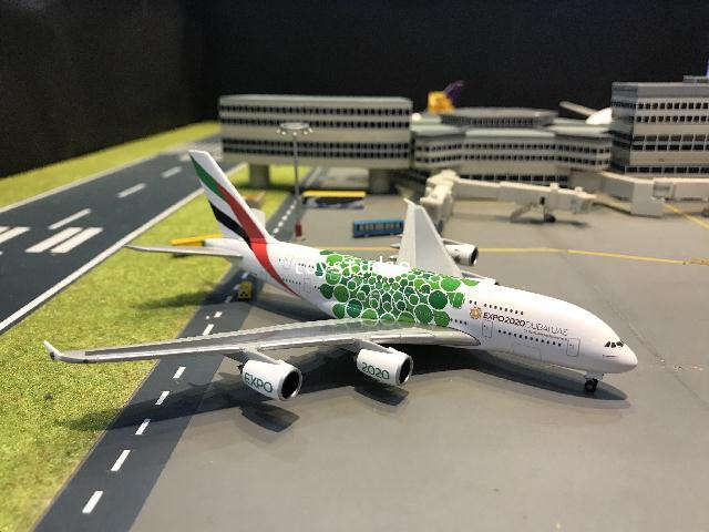 Herpa Wings 1:500 Emirates A380 Expo 2020 A6-EOW HW533522