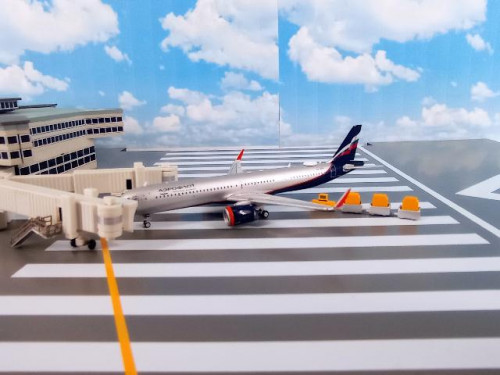 GJ1987 1:400 Aeroflot A321neo VP-BPP [Width 9 Length 11 Height 3 cms.]