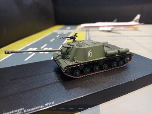 HG7056 1:72 ISU-122 Tank Destroyer 3rd Belorussian Front unit [Width 4 Length 14 Height 4.5 cms.]