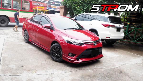 ชุดแต่งสเกิร์ตรอบคัน Toyota Vios STROM 2013 2014 2015 2016 1