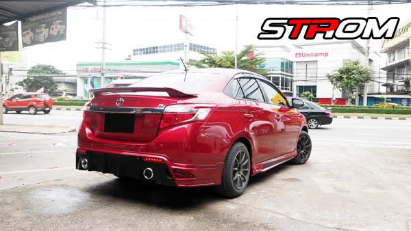 ชุดแต่งสเกิร์ตรอบคัน Toyota Vios STROM 2013 2014 2015 2016 3