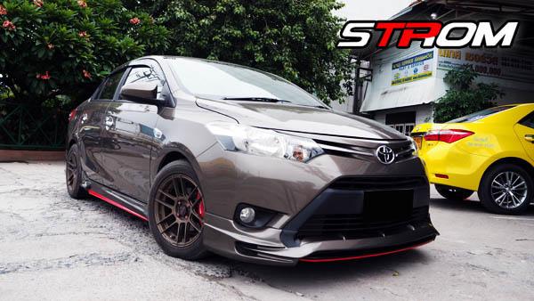 ชุดแต่งสเกิร์ตรอบคัน Toyota Vios STROM 2013 2014 2015 2016 4