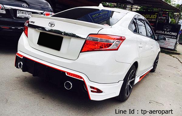 ชุดแต่งสเกิร์ตรอบคัน Toyota Vios STROM 2013 2014 2015 2016 8