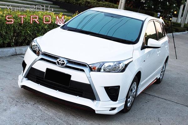 ชุดแต่งสเกิร์ตรอบคัน Toyota Yaris STROM ยาริส 2014 2015 2016 2017