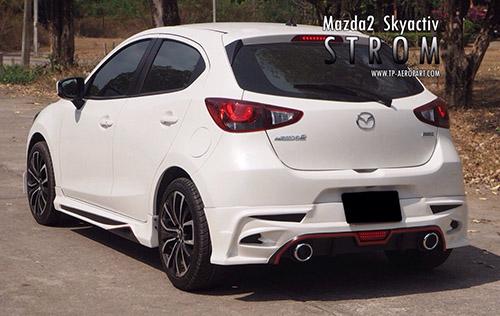 ชุดแต่งมาสด้า2 Mazda2 H/b 5 ประตู STROM 2015 2016 2017 2018 สเกิรฺ์ต สปอยเลอร์ 2