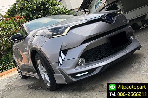 ชุดแต่ง Toyota CHR สเกิร์ตรอบคัน ซีเอชอาร์ 2017 2018 Modellisa 4