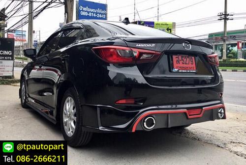 ชุดแต่งมาสด้า2 Mazda2 Sedan 4 ประตู STROM 2015 2016 2017 2018 6