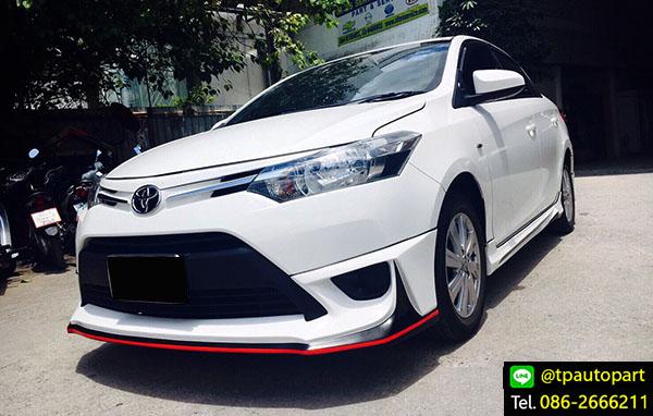 ชุดแต่งวีออส Toyota Vios 2013 2014 2015 2016 AR-Sport สเกิร์ตรอบคัน
