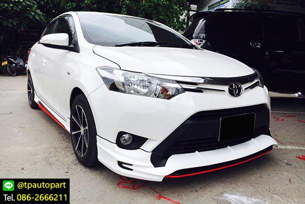 ชุดแต่งวีออส Toyota Vios 2013 2014 2015 2016 STROM สเกิร์ตรอบคัน