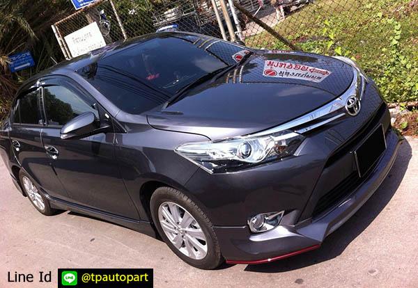 ชุดแต่งวีออส Toyota Vios 2013 2014 2015 2016 MDP สเกิร์ตรอบคัน