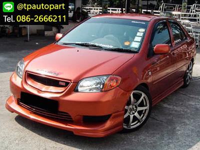 ชุดแต่งวีออส Toyota Vios 2003 2004 2005 2006 TRDD สเกิร์ตรอบคัน