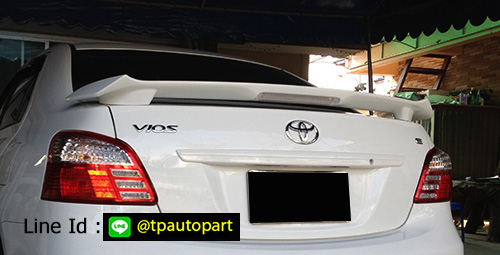 สปอยเลอร์ Toyota Vios  วีออส 2007 2008 2009 2010 2011 2012 TRDD