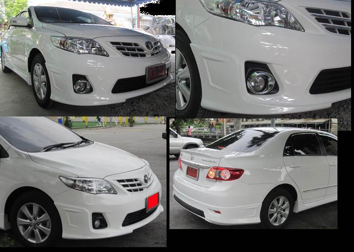 ชุดแต่งอัลตีส Toyota Altis 2010 2011 2012 2013 สเกิร์ตรอบคัน ทรง ACC
