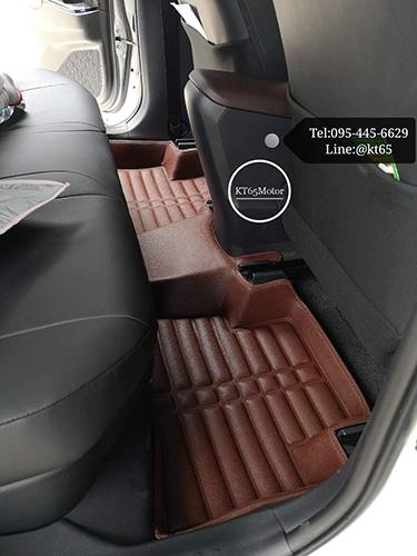 พรมปูพื้นรถยนต์ CHR 3D 5D 6D เข้ารูปผลิตจากหนัง Polyurethane แท้ 4