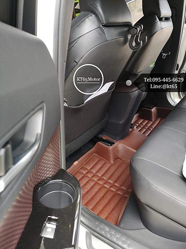 พรมปูพื้นรถยนต์ CHR 3D 5D 6D เข้ารูปผลิตจากหนัง Polyurethane แท้ 5