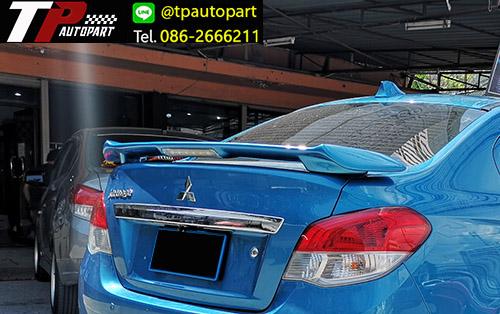 สปอยเลอร์ฝาท้ายแอททราจ Spoiler Mitsubishi Attrage มีไฟ LED