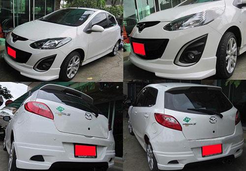 ชุดแต่งสเกิร์ตรอบคันมาสด้า2 Mazda2 5ประตู Valient  2010 2011 2012 2013 2014