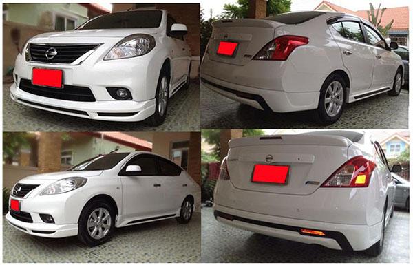 ชุดแต่งสเกิร์ตรอบคัน Nissan Almera SPL นิสสันอัลเมร่า 2012 2013