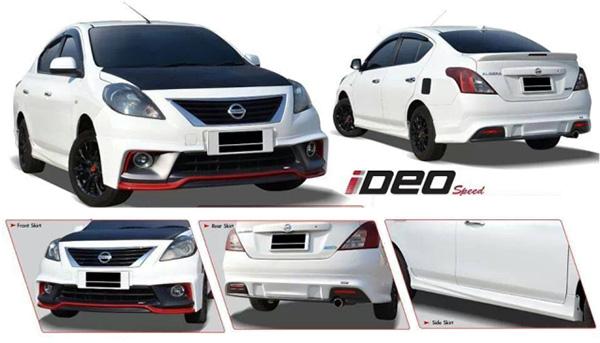ชุดแต่งสเกิร์ตรอบคัน Nissan Almera IDEO นิสสันอัลเมร่า 2012 2013