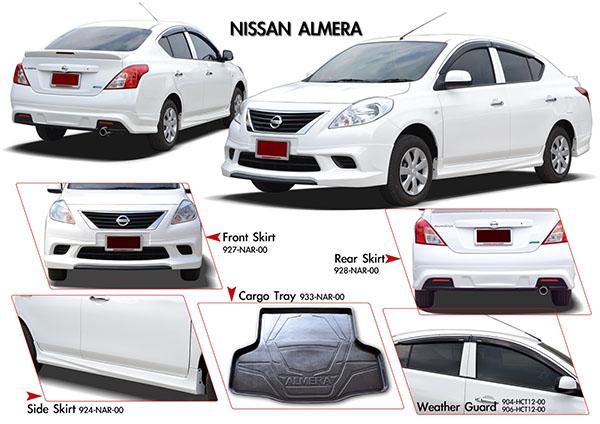 ชุดแต่งสเกิร์ตรอบคัน Nissan Almera RB-S นิสสันอัลเมร่า 2012 2013