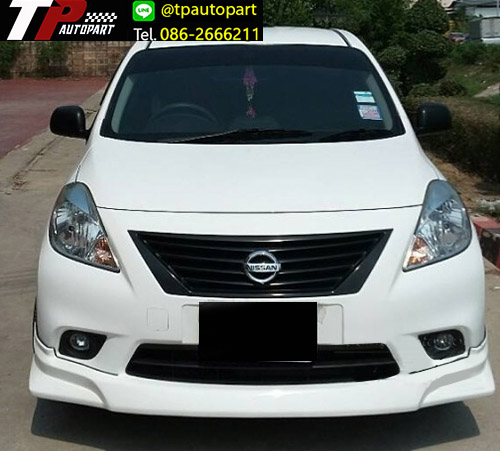 ชุดแต่งสเกิร์ตรอบคัน Nissan Almera WARRIOR-M1 นิสสันอัลเมร่า 2012 2013