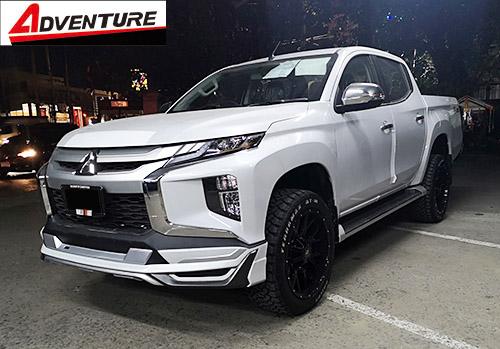 ชุดแต่งสเกิร์ตหน้า Mitsubishi Triton Adventure 2018 2019