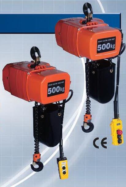 รอกโซ่ไฟฟ้า HITACHI 500 Kg./380 V. Model : 1/2 SH2