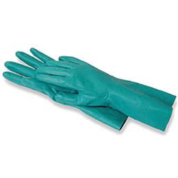 ถุงมือไนโตรป้องกันสารเคมี สารละลาย น้ำมัน กรด