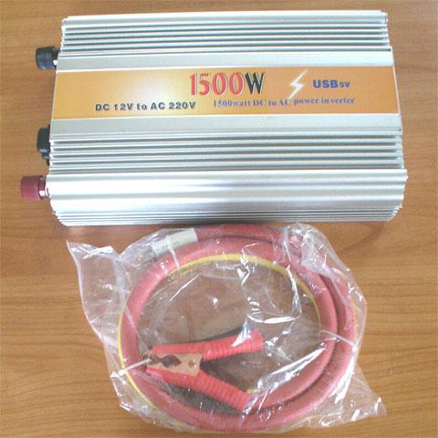แปลงไฟ 12V เป็น 220V 1500 วัตต์ Inverter 12V to 220V 1500W