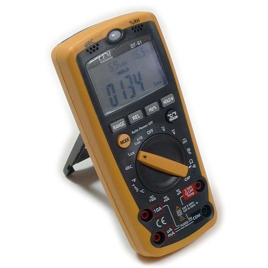 ดิจิตอลมัลติมิเตอร์ Digital Multimeter 6 in 1 DT-61