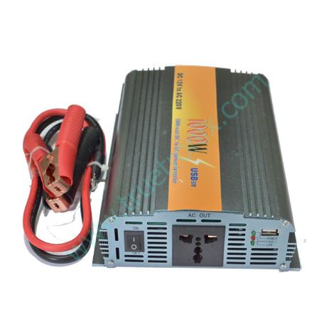 เครื่องแปลงไฟ 12V เป็น 220V ขนาดกำลังไฟ 1000 วัตต์