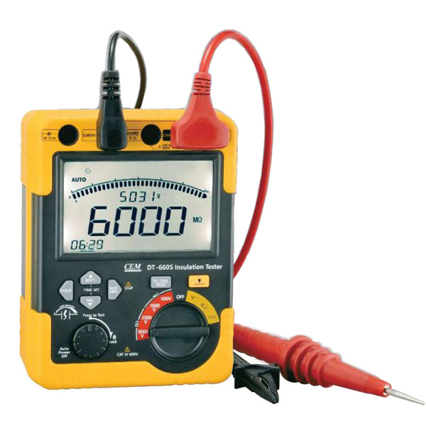 เครื่องทดสอบฉนวนไฟฟ้า กิกะโอห์มมิเตอร์ Insulation Tester DT-6605