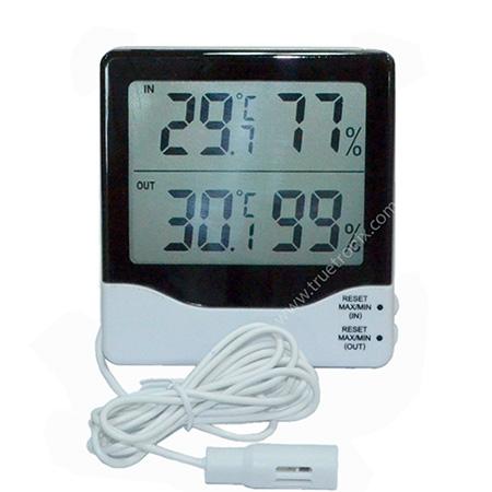เครื่องวัดความชื้นและอุณหภูมิภายในภายนอกแบบมีหัวโพรบ