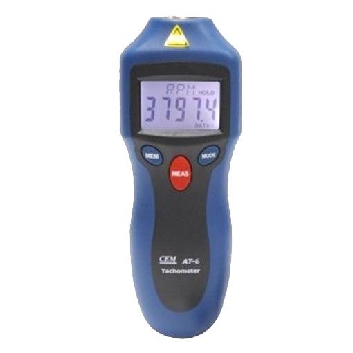 เครื่องวัดความเร็วรอบด้วยแสง แบบไม่สัมผัสวัตถุ CEM AT-6 Tachometers