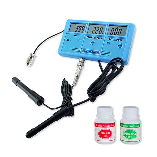 เครื่องวัดคุณภาพน้ำ 6-in-1 Water Quality Tester Aquarium EC CF TDS PH Temp C-F