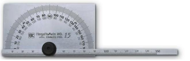 PROTRACTOR วัดมุมสแตนเลส 180 องศา