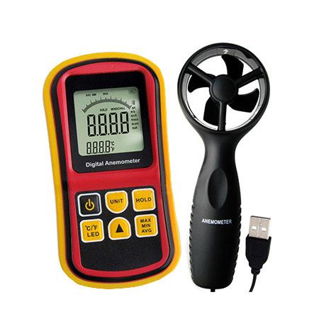 เครื่องวัดความเร็วลมพร้อมวัดอุณหภูมิลม 2-in-1 Digital Anemometer