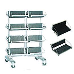 ชั้นจัดเก็บแผ่น PCB มีล้อสำหรับเข็น PCB Storage Trolley with Hanging Racks