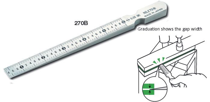 แผ่นวัดขนาดรู Taper Gage 270B