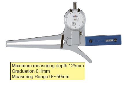 External Dial Caliper Gauge 0-50/125mm