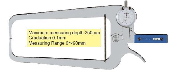 External Dial Caliper Gauge 0-90/250mm