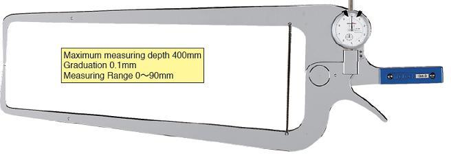 เกจสำหรับวัดนอกแบบลึก TECLOCK GM-3 External Dial Caliper Gauge 0-90/400mm