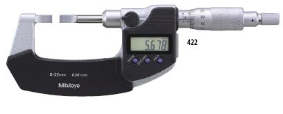 ไมโครมิเตอร์ดิจิตอลปลายแบน Mitutoyo 422-230 Blade Micrometers
